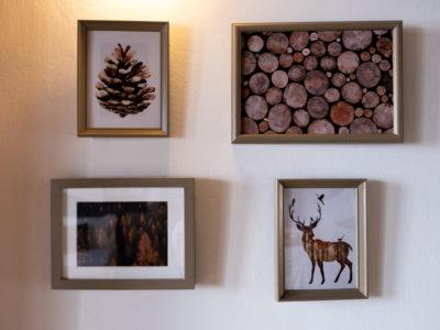quadri a tema montagna e legna residence ferraud pinerolo