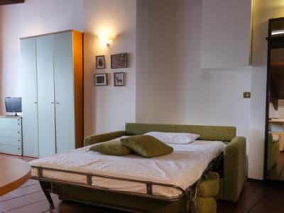 divano letto Mansarda Residence Ferraud Pinerolo